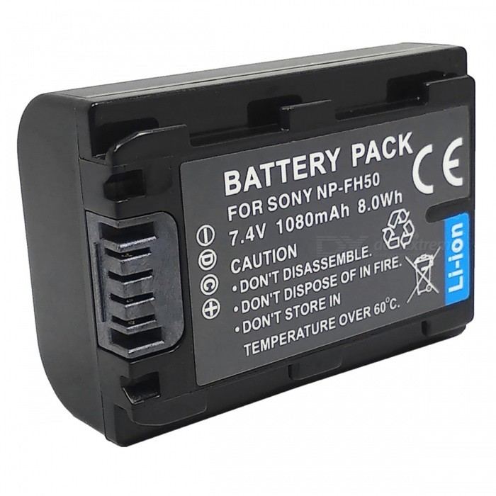 Battery for Sony NP-FH50 NP-FH40 NP-FH30 NP-FH60 Alpha DSLR - Black