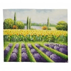 Handmade Hand Painted Oil Painting - Lavender Field