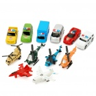 Funny Police Car and Plane Toys (12-Piece Set)