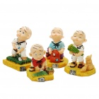 Three Hairs Farming Display Figure Toy - Colorful (4pcs/set)