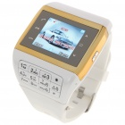 "Q5 Watch Style 1.3"" Touch Screen Single SIM Quadband GSM Cell Phone - White + Golden"