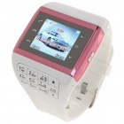 "Q5 Watch Style 1.3"" Touch Screen Single SIM Quadband GSM Cell Phone - White + Red"