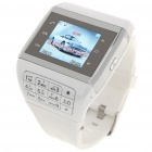 "Q5 Watch Style 1.3"" Touch Screen Single SIM Quadband GSM Cell Phone - White + Silver"