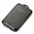 3.7V 2100mAh Mini Portable Rechargeable USB Battery Pack for Mobile Phone - Black