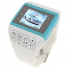 "Q5 Watch Style 1.3"" Touch Screen Single SIM Quadband GSM Cell Phone - Blue + White"