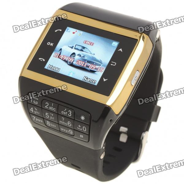 "Q5 Watch Style 1.3"" Touch Screen Single SIM Quadband GSM Cell Phone - Golden + Black"