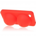 Super Sexy Soft Silicone iBoobies Case & Stand for Iphone 4 - Red