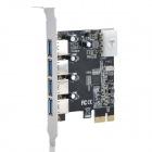 High Speed ​​USB 3.0 4-Port PCI-E Express Card (5Гб)