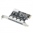 High Speed USB 3.0 4-Port PCI-E Express Card (5Gbps)