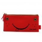 Double-faced Smile Face Easy-carrying Pouch Bag - Random Color