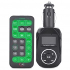 "0.9"" LCD Car MP3 Player FM Transmitter w/ USB/SD/TF Slot - Black (DC 12~24V)"