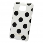 Protective PC Polka Point Back Case for Samsung Galaxy S2 i9100 - White + Black