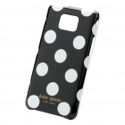 Protective PC Polka Point Back Case for Samsung Galaxy S II i9100 - White + Black