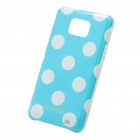 Protective PC Polka Point Back Case for Samsung Galaxy S2 i9100 - Light Blue