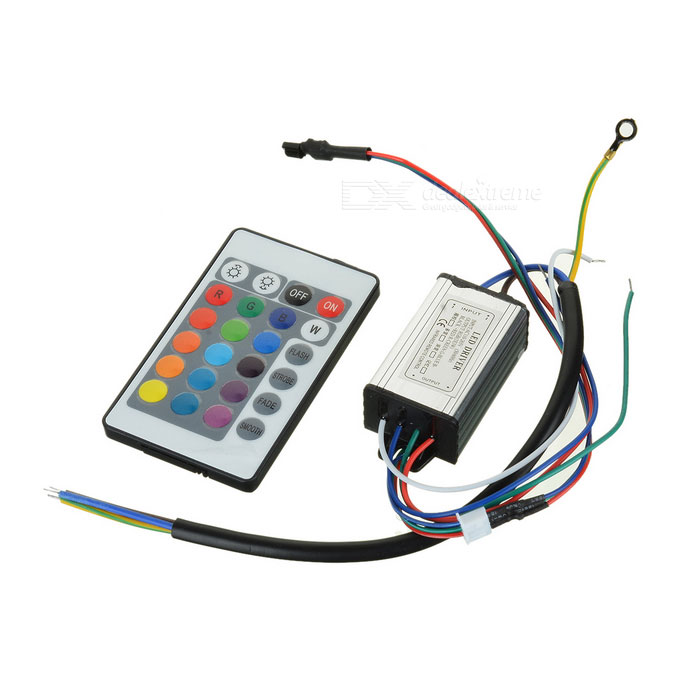 10W RGB LED Lighting Driver with Remote Controller (1*CR2025)