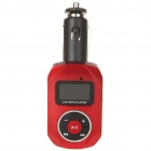 "1.0"" LCD Car MP3 Player with USB/SD/TF/Remote Controller - Red"