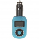 "1.0"" LCD Car MP3 Player with USB/SD/TF/Remote Controller - Blue"