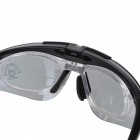 Protection PC Frame Sport Sunglasses w/ Replacement Lens Set - Black
