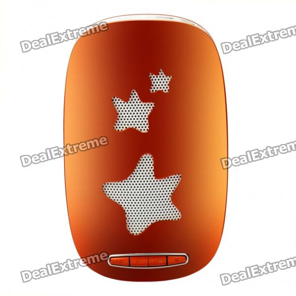 Cool Rechargeable Plastic Speaker with TF Slot - Orange + White