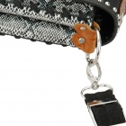 Crocodile Style PU Leather plus Zinc Alloy Splash-proof Multifunction Shoulder Bag - White + Black