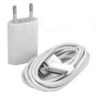 AC Power Adapter + Data/Charging Cable Kit for iPod/iPhone 3GS/4 - White