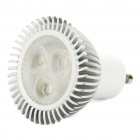 GU10 4.2W 3-LED 200Lumen 5500-7000K White Light Bulbs (100~265V)