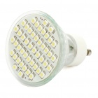 GU10 2.8W 48-SMD LED 220Lumen 2700-3500K White Light Bulbs (11~18V)