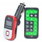 "1.0 ""LCD Car MP3 Player w / Remote Controller / USB / SD / TF - Red"