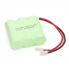Rechargeable 3.6V 2/3 AAA 400mAh NI-MH Battery Pack (Actual 300mAh)