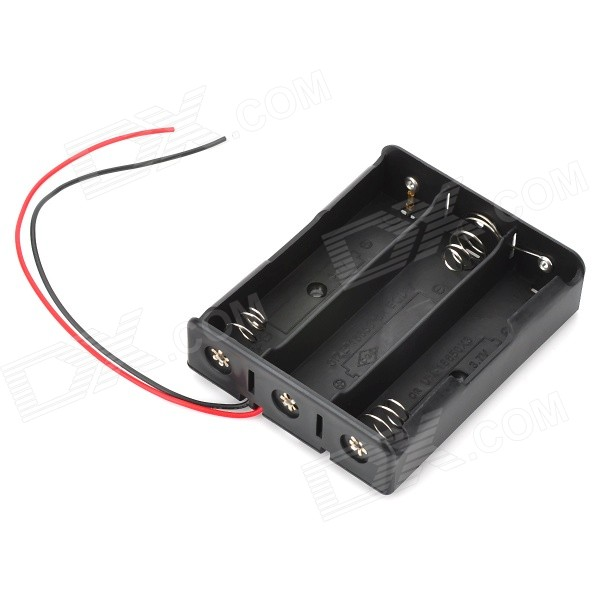 11.1V 3 x 18650 Battery Holder Case Box with Leads