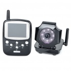 "Wireless 8-LED IR Night Vision Security Surveillance Camera w/ 2.4"" LCD Handheld Baby Monitor"