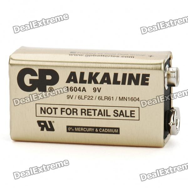 GP 9V 1604A Alkaline Battery - Gold