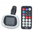 "1.8"" LCD Car MP3/MP4 Player FM Transmitter w/ Remote Controller/USB/SD/TF - Silver"