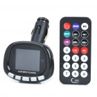 "1.8"" LCD Car MP3/MP4 Player FM Transmitter w/ Remote Controller/USB/SD/TF - Black"