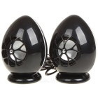 Fashionable Dinosaur Egg Style USB Charging Mini Speaker - Black