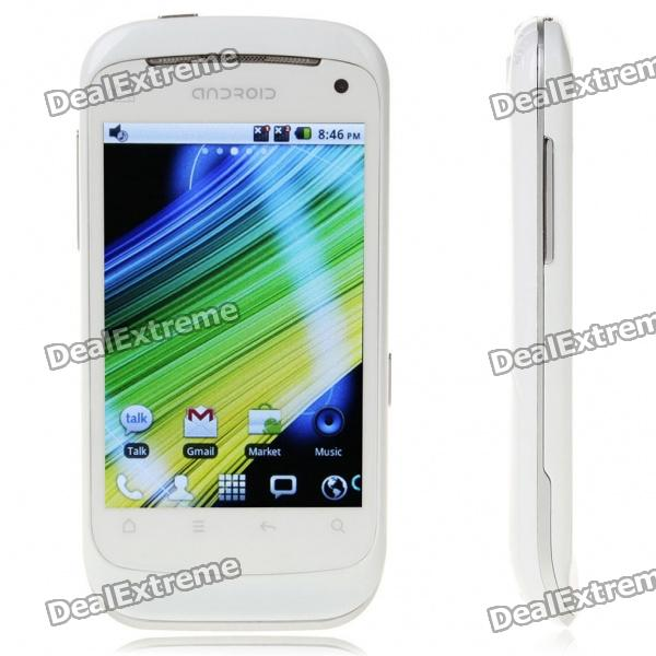 "B1000 Android 2,2 3,5 ""Touch Screen Dual SIM Dual Network Standby Quadband w / WiFi + TV - White"