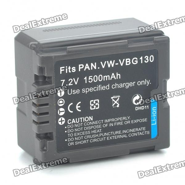 "Replacement VBG130 7.2V ""1500mAh"" Battery for Panasonic SD1/SD3/SD5/SD7"