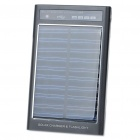 Solar/USB/AC Rechargeable 2600mAh Power Pack w/ 3-LED White Light + Charging Adapters - Black