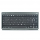 80-Key Portable Rechargeable Bluetooth Wireless Keyboard + 10000mAh Mobile Power - Titanium + Black