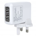 Universal 4-Port USB AC Power Travel Adapter Kit (UK Plug)