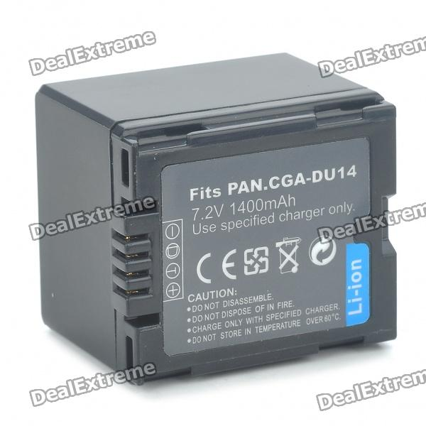 "Replacement CGA-DU14 7.2V ""1400mAh"" Battery Pack for Panasonic NV-GS10/17/30/PV-GS400/200 + More"