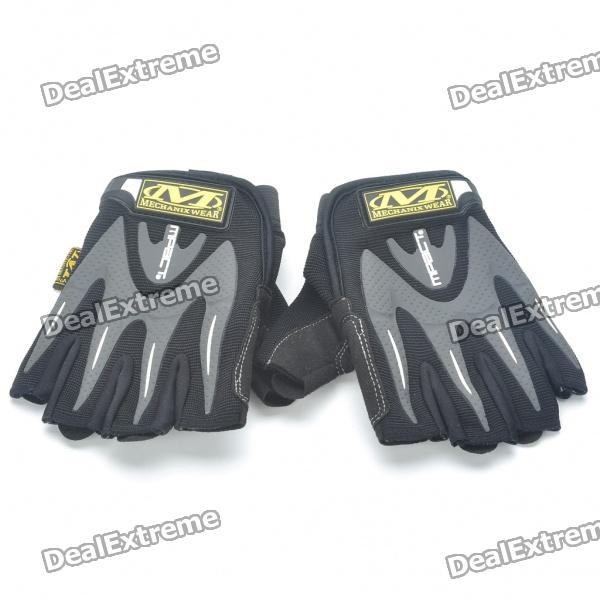 Vietnam Mechanix M-pact Tactical Half Finger Gloves - Black (M-Size/Pair)