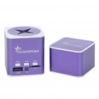 Cool Rechargeable Aluminum Alloy Mini Vibration Speaker with TF Slot - Purple + White