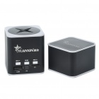 Cool Rechargeable Aluminum Alloy Mini Vibration Speaker with TF Slot - Black + White