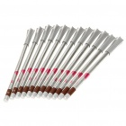 2-in-1 Cosmetic Lip Liner + Eye Liner Pencil - Light Coffee (12-Piece)