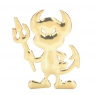Cute Little Devil Figure Style Car Decoration Sticker - Golden