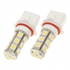 SP-13 3.5W 6500K 145-Lumen 18-5050 SMD LED White Light Bulbs (DC 12V/Pair)