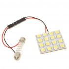Adjustable 31~44mm 3W 6500K 192-Lumen 16-5050 SMD LED White Light Bulb (DC 12V)