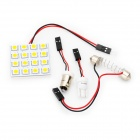 Ajustable 31 ~ 44mm 3W 6500K 192-Lumen 16-5050 SMD LED Bombilla Blanco (DC 12V)