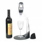 Deluxe Essential Wine Aerator & Tower Magic Decanter Set - Black + Transparent color